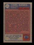 1985 Topps #111  Carl Banks  Back Thumbnail