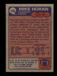 1985 Topps #130  Mike Horan  Back Thumbnail