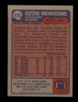 1985 Topps #232  Ozzie Newsome  Back Thumbnail