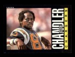 1985 Topps #370  Wes Chandler  Front Thumbnail