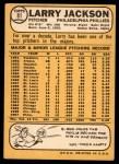 1968 Topps #81  Larry Jackson  Back Thumbnail