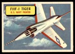 1957 Topps Planes #58 BLU  F11f-1 Tiger Front Thumbnail