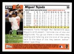 2005 Topps #230  Miguel Tejada  Back Thumbnail