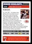 2005 Topps #335   -  Ken Griffey Jr. Season Highlights Back Thumbnail