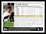 2005 Topps #374  Freddy Garcia  Back Thumbnail