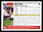 2005 Topps #383  Alex Cora  Back Thumbnail