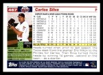 2005 Topps #467  Carlos Silva  Back Thumbnail