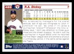 2005 Topps #489  R.A. Dickey  Back Thumbnail