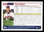 2005 Topps #549  Tim Hudson  Back Thumbnail