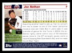 2005 Topps #628  Joe Nathan  Back Thumbnail