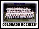 2005 Topps #647   Colorado Rockies Team Front Thumbnail
