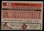 1981 Topps #98  Clint Hurdle  Back Thumbnail