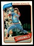 1980 Topps #601  Buddy Schultz  Front Thumbnail