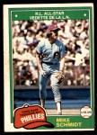 1981 O-Pee-Chee #207  Mike Schmidt  Front Thumbnail