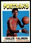 1971 Topps #89  Shaler Halimon   Front Thumbnail