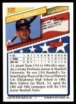 1993 Topps Traded #12 T  -  A.J. Hinch Team USA Back Thumbnail