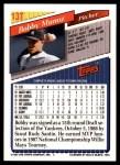 1993 Topps Traded #13 T Bobby Munoz  Back Thumbnail