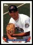 1993 Topps Traded #22 T  -  Dustin Hermanson Team USA Front Thumbnail