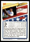 1993 Topps Traded #34 T Pat Clougherty  Back Thumbnail