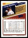 1993 Topps Traded #54 T Greg Maddux  Back Thumbnail