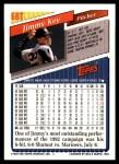 1993 Topps Traded #68 T Jimmy Key  Back Thumbnail