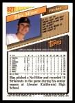 1993 Topps Traded #82 T Blas Minor  Back Thumbnail