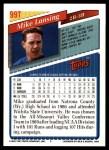 1993 Topps Traded #99 T Mike Lansing  Back Thumbnail