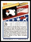 1993 Topps Traded #107 T  -  Paul Wilson Team USA Back Thumbnail