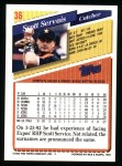 1993 Topps #36  Scott Servais  Back Thumbnail