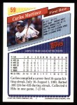 1993 Topps #59  Carlos Martinez  Back Thumbnail