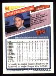 1993 Topps #64  Scott Chiamparino  Back Thumbnail