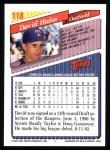 1993 Topps #118  David Hulse  Back Thumbnail