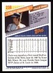 1993 Topps #238  Chris Donnels  Back Thumbnail