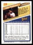 1993 Topps #239  Mike Boddicker  Back Thumbnail