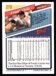 1993 Topps #270  Frank Viola  Back Thumbnail