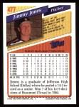 1993 Topps #477  Jimmy Jones  Back Thumbnail