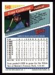1993 Topps #540  Ivan Calderon  Back Thumbnail