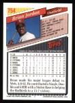 1993 Topps #754  Brian Jordan  Back Thumbnail