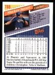 1993 Topps #788  Mackey Sasser  Back Thumbnail