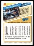 1993 Topps #44  Kevin Seitzer  Back Thumbnail