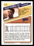 1993 Topps #179  Ken Griffey Jr.  Back Thumbnail