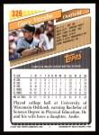 1993 Topps #326  Gary Varsho  Back Thumbnail