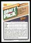 1993 Topps #334  Jason Kendall  Back Thumbnail