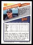 1993 Topps #353  Buddy Groom  Back Thumbnail