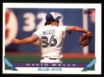 1993 Topps #458  David Wells  Front Thumbnail
