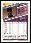 1993 Topps #461  Steve Reed  Back Thumbnail