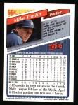 1993 Topps #564  Mike Timlin  Back Thumbnail