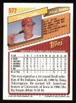 1993 Topps #577  Tim Costo  Back Thumbnail
