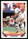 1993 Topps #589  Carlos Hernandez  Front Thumbnail
