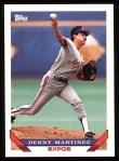 1993 Topps #610  Dennis Martinez  Front Thumbnail